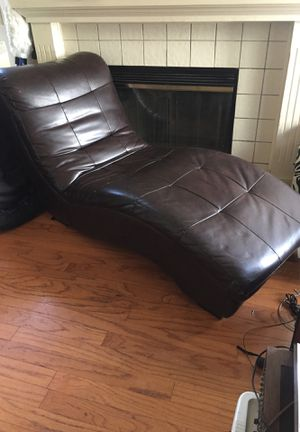 Brown Faux Leather Chaise Lounge chair for Sale in San Jose, CA