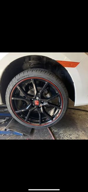 """Honda new civic Accord 20"""" new blk red si style rims tires set for Sale in Hayward, CA"""
