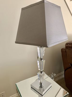 Modern Crystal Table Lamp - Brand New with Tags for Sale in Burbank, CA