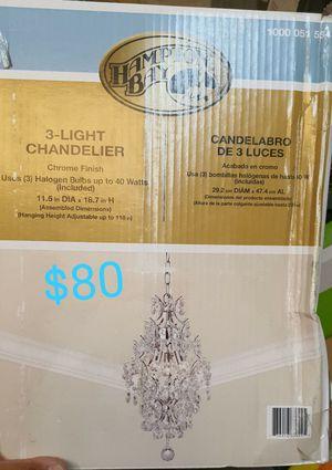 3 light Crystal chandelier for Sale in Bakersfield, CA