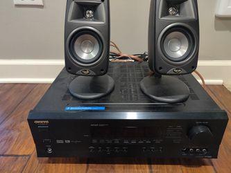 Onkyo Receiver Stereo Klipsch for Sale in Bartlett,  IL