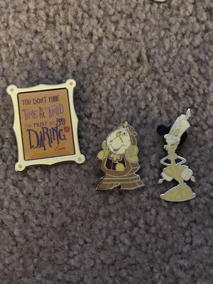 Disney Wisdom Collection Beauty and the Beast Pin Set for Sale in Bothell, WA