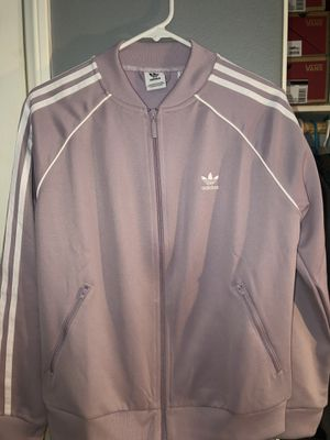 Adidas purple track sweater for Sale in Riverside, CA