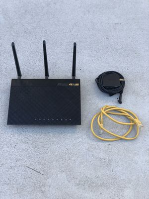 Router ASUS RT-AC66U Dual-Band 3x3 AC1750 WiFi 4-port Gigabit Router for Sale in Los Angeles, CA