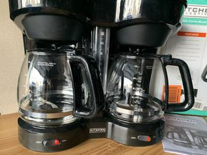 Kitchen selective duel 12 cup coffee maker new excellent condition never used in original for Sale in Las Vegas, NV