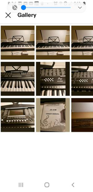 Joy 61 Lighted Keys Keyboard with USB Music Player Function (JK-63M) for Sale in Lake Elsinore, CA