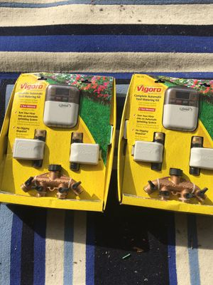 2 Virgoro complete lawn watering kits. for Sale in Commack, NY