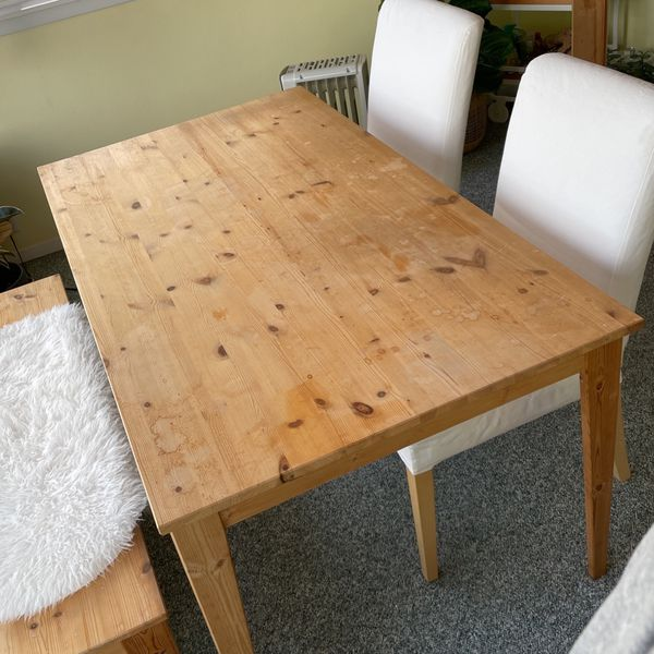 IKEA Dining Table, Chairs, and Bench