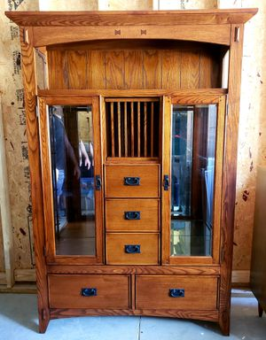 Solid Wood Curio Cabinet for Sale in Columbus, OH