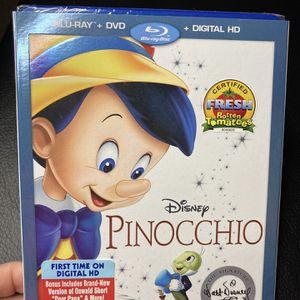 Pinocchio BLU-RAY +DVD for Sale in Sunnyvale, CA