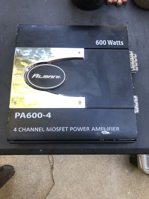 Almani 600 watt 4 ch. for Sale in Beaumont, CA