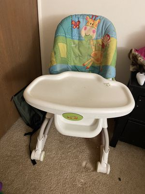 Fisher price kids adjustable high chair in good condition negotiable for Sale in Farmington Hills, MI