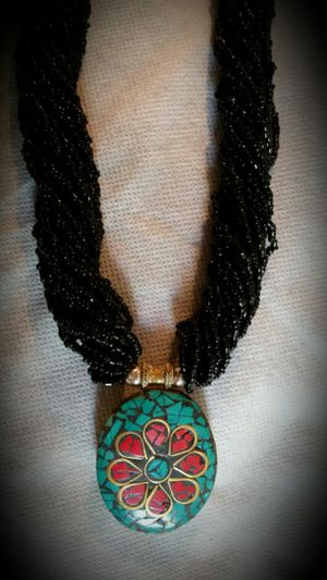 Nepali necklace real coral n turquoise pendant for Sale in Alexandria, VA