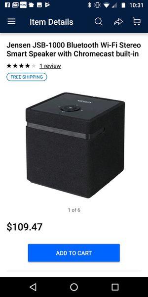 Jensen JSB-1000 Bluetooth Wi-Fi Stereo Smart Speaker with Chromecast built-in for Sale in Houston, TX