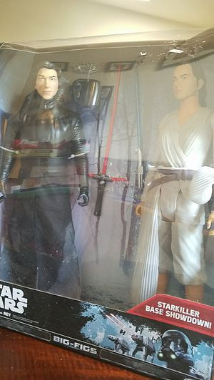 Star Wars Action Figures Kylo Ren vs Rey for Sale in Tacoma, WA