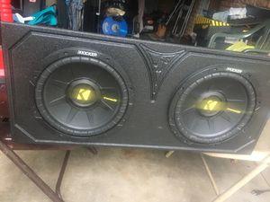 Kicker 10in pro box n amp! for Sale in Pasadena, TX