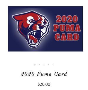 Puma Discount Card- Support Perry High School for Sale in Chandler, AZ