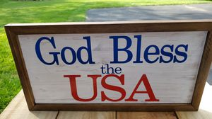 Patriotic handmade wooden sign for Sale in NO HUNTINGDON, PA