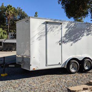 2021 Enclosed Trailer 7.5x14 Double Axel for Sale in Lakeside, CA