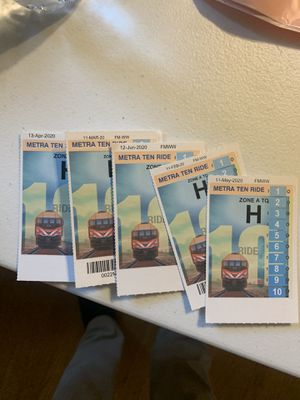 (5) Metra 10 ride passes for Sale in Libertyville, IL