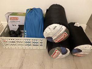 Camping Supplies: Sleeping Bags, Air Mattress, Stove, and Lamps for Sale in Santa Monica, CA