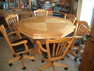 """Dining/poker table 54""""x 54"""" & 6 chairs for Sale in Rialto, CA"""