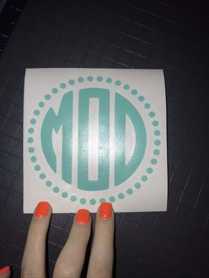 monograms/custom stickers for Sale in Greensboro, NC