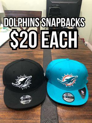 NFL new era Miami Dolphins black and Aqua 9fifty SnapBack hats caps for Sale in La Puente, CA