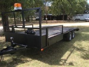 Flatbed trailer 22ft with winch for Sale in Meridian, TX