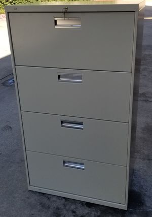 Hon file cabinet with lock and keys for Sale in Montclair, CA