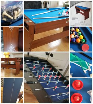Game nite.. pool table and foosball tables 2x4 for Sale in Hillsborough, NC