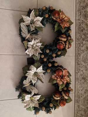 2 Christmas Wreaths $40 for Sale in Land O Lakes, FL