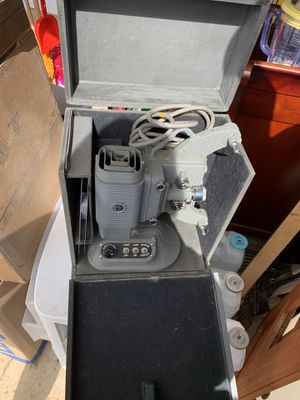 Vintage projector and screen with splicer for Sale in Aberdeen, WA