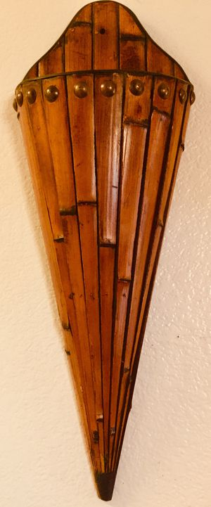 Decorative bamboo wall art vase H30xW10xD5 inch for Sale in Chandler, AZ