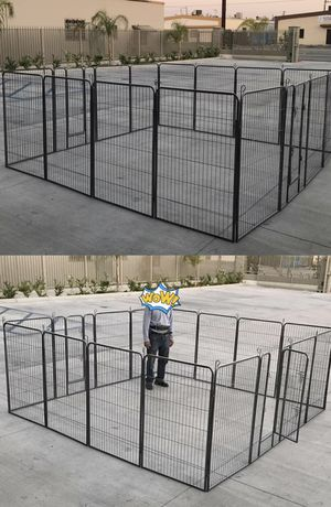 """New 48"""" Tall x 32"""" Wide Panel Heavy Duty 16 Panels Dog Playpen Pet Safety Fence Adjustable Shape and Space for Sale in Whittier, CA"""