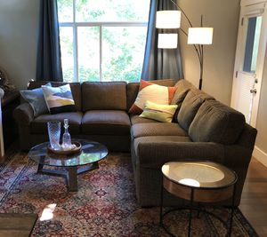 Large L shaped sectional couch for Sale in Renton, WA