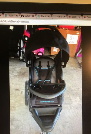 Black and blue expedition fx jogging stroller baby for Sale in Houston, TX