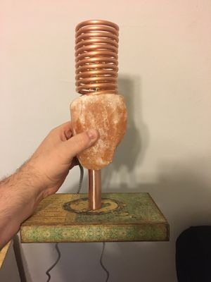 Salt lamp for desk steampunk style for Sale in Chicago, IL