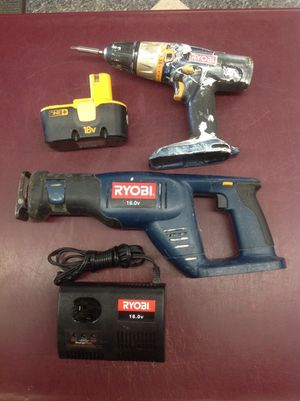ryobi 2pc cordless set 18v drill & reciprocating saw / sawzall for Sale in Columbus, OH