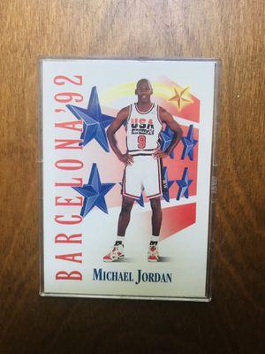 Michael Jordan Barcelona USA team card for Sale in Raleigh, NC