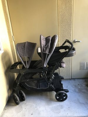 Graco double/single stroller. Booster & infant car seats for Sale in Santa Clara, CA