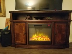 TV stand with electric fire place for Sale in San Diego, CA