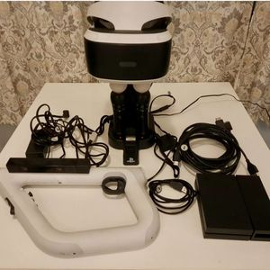 Sony PlayStation 4 / PS4/ PS5 VR Bundle - Controllers - Camera - Headset Stand for Sale in Chicago, IL