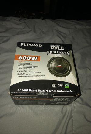 """6"""" 600 watt dual 4 ohm subwoofer 🔊 for Sale in West Boylston, MA"""