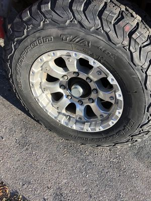 Ford Chevy dodge wheels and tires lug 8x6.5 for Sale in La Mesa, CA