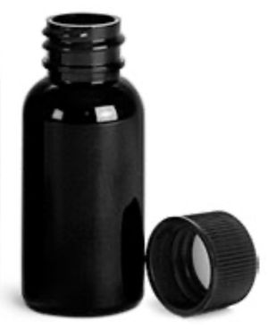Black PET Boston Round Bottles w/ Black Ribbed Caps for Sale in Arlington, TX