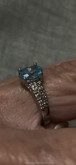 14 k white gold topaz ring for Sale in Melbourne, FL