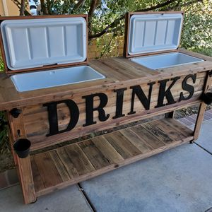 """Double Rustic """" DRINKS"""" Cooler for Sale in Murrieta, CA"""
