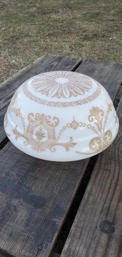 Vintage Victorian Era Ceiling Light Fixture Hand Painted Art Deco Milk Glass Globe for Sale in Newport,  KY