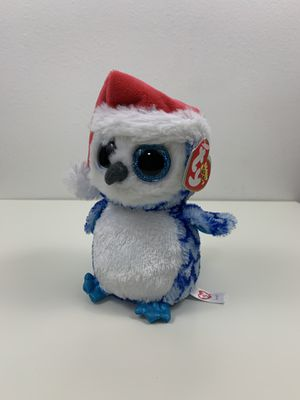 Icicles Blue Owl Beanie Baby Boo Santa Hat Plush for Sale in Miami, FL